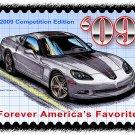 2009 Competition Edition Corvette Postage Stamp Art Print