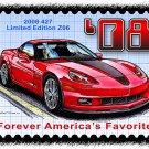 2008 427 Limited Edition Z06 Corvette Postage Stamp Art Print