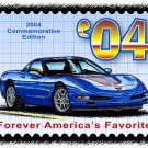 2004 Commemorative Edition Corvette Postage Stamp Art Print