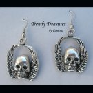 Skull Earrings, Goth, Biker, Original Design, Ramona Beasley