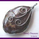 Wire-Wrapped Pietersite Pendant, Artisan Crafted, Make Necklace, Texas