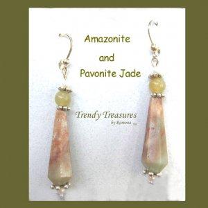 Amazonite Spears Earrings Artisan Handcrafted Original Trendy Treasures Jewelry