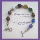 Fruit of the Spirit Artisan Bracelet Gemstones, Galatians 5:22, Trendy Treasures
