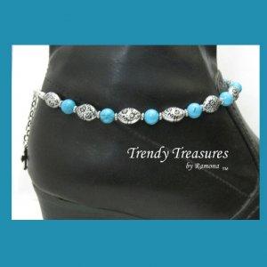 Turquoise Gemstone Boot Bling Boot Bracelet Jewelry Cowboy Cowgirl,#TrendyTreasuresByRamona