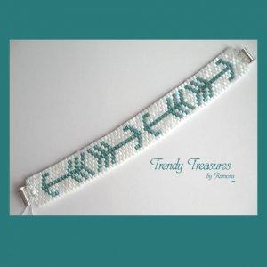Arrows Design Woven Bracelet,Original Design,#TrendyTreasuresByRamona