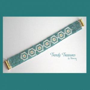 Tribal Design Woven Bracelet,Original Design,#TrendyTreasuresByRamona