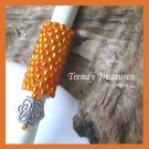 Bright Orange, Dreadlock Sleeve, Dread Bead, Charm Dangle, #TrendyTreasuresByRamona