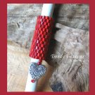 Bright Red, Dreadlock Bead, Dread Sleeve, Heart Charm, #TrendyTreasuresByRamona