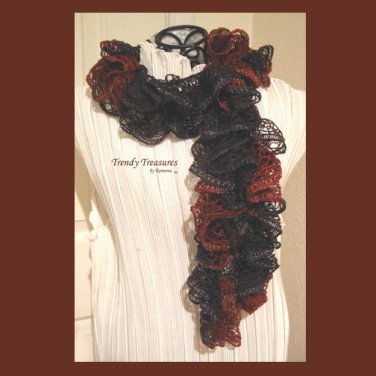 Texas A & M Colors, Hand-made Ruffled Scarf,Gig 'em,Aggies, #TrendyTreasuresByRamona