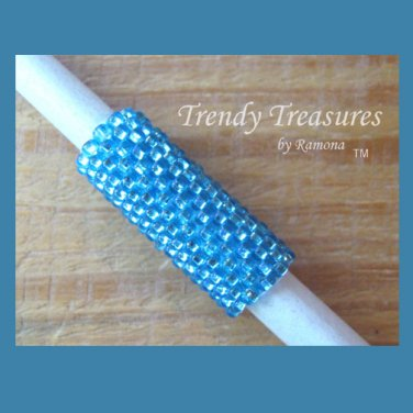 Iridescent Turquoise, Dreadlock Sleeve, Dread Bead, #TrendyTreasuresByRamona