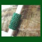 Emerald Green, Dreadlock Sleeve, Dread Bead, Pantone Color of 2013, #TrendyTreasuresByRamona