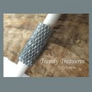 Silver-Lined Gray, Dreadlock Sleeve, Dread Bead, Braid Bead,#TrendyTreasuresByRamona