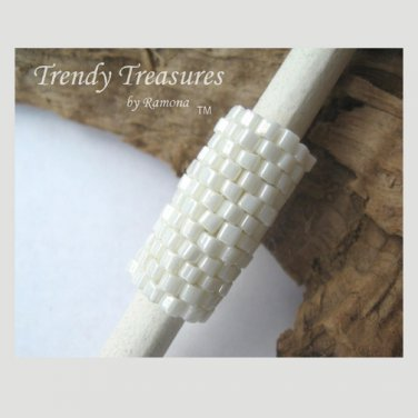Ecru White, Dreadlock Sleeve, Dread Bead, Braid Bead,#TrendyTreasuresByRamona