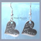 Peace Tilted Heart Flowers Earrings,Tibet silver charm, #TrendyTreasuresByRamona,