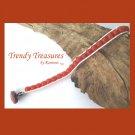 Orange Gemstone & White Hemp Wrap Bracelet, Pop Style, #TrendyTreasuresByRamona