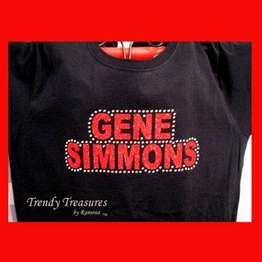 Gene Simmons, Original Design Rhinestones & Glitter Embellished T-shirt, KISS