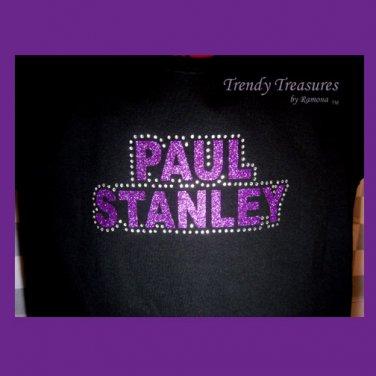 Paul Stanley, Original Design Rhinestones & Glitter Embellished T-shirt, KISS