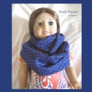 American Girl Infinity Scarf, Handmade,Gorgeous Dark Blue, Purple Key Design