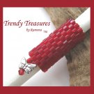 Bright Red, Dreadlock Bead, Dread Sleeve, Butterfly Charm, #TrendyTreasuresByRamona