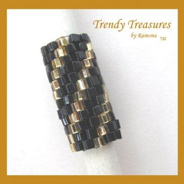 Sparkling Gold, Shiny Black Spiral, Dreadlock Sleeve, Dread Bead, #TrendyTreasuresByRamona