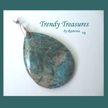 Blue Crazy Lace Agate Teardrop Pendant Gemstone Bead,#TrendyTreasuresByRamona