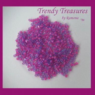 ToHo Cube Beads, 2 mm, 15 Grams, Hot Pink, No. 980, #TrendyTreasuresByRamona,