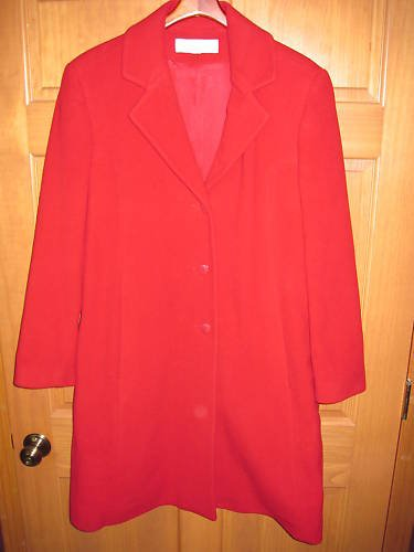 Discounted Womens Red Liz Claiborne Jacket Coat