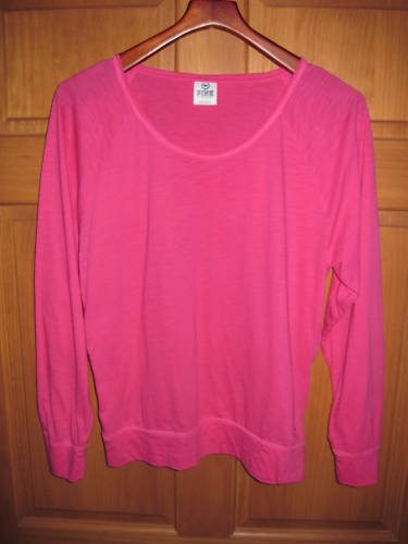 Victoria's Secret Large PINK Long Sleeve Top Shirt