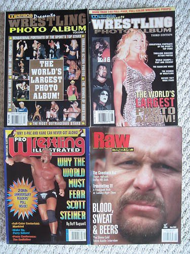 Lot of 22 Vintage Collectible Wrestling Magazines