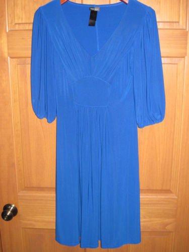 Womens Size 8 Bisou Bisou Blue Dress
