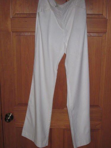 Womens New York & Company White Linen Cotton Pant TALL