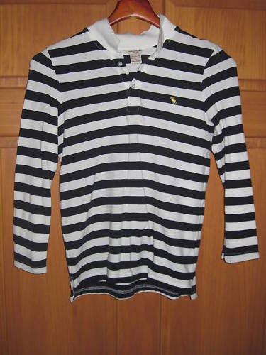 Boys Abercrombie Long XL Sleeve Top Polo Shirt