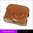 Camera Leather Case/Bag for Canon Powershot G11 G12 (Brown)