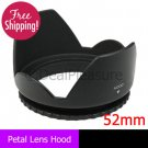 52mm Flower Petal Lens Hood anti Lessening Vignetting for Canon Nikon Sony