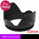 55mm Flower Petal Lens Hood anti Lessening Vignetting for Canon Nikon Sony