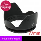 77mm Flower Petal Lens Hood anti Lessening Vignetting for Canon Nikon Sony
