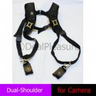 Q Double Shoulder Camera Strap Quick Sling for Canon Nikon Sony 7D 600D D600 D7100 D5200 etc.