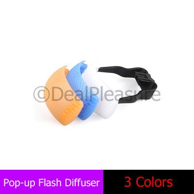 3 Color Pop-Up Flash Diffuser Cover Dome for Canon Nikon Pentax