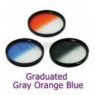 77mm Graduated Color Filter Kit Gray/Orange/Blue 3 Pics