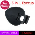 5 in 1 Universal Eyecup Eye Cup 5 Adapter for Canon Nikon Olympus Pentax Camera