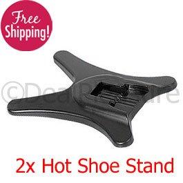 2x Flash Hot Shoe Stand for Camera Canon Nikon Pentax Sigma 2Pics