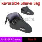 Reversible Neoprene D-SLR Camera Sleeve Bag Pouch Case M for Canon 600D 18-55mm Lens