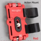 Flip Action Mount for Slim Digital Camera Video Mino Camcorder DV Red