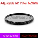 62mm Fader Neutral Density Filter Adjustable (ND2 to ND400)