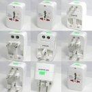2x Universal Travel Power AC Adapter Plug AU/UK/US/EU Power Indicator Light
