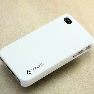 Slim Case Protector Cover for iPhone 4S 4 Sanding Material Anti Fingerprint -White-