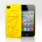 COIN 4 Snap Case Cover for Apple iPhone 4 / 4S (Yellow)