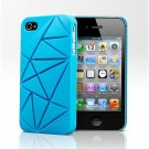 COIN 4 Snap Case Cover for Apple iPhone 4 / 4S (Blue)