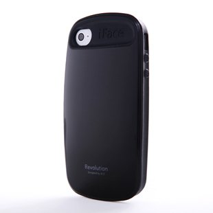 iFace 2 Generation TPU Case Cover for Apple iPhone 4 4G 4S (Black)
