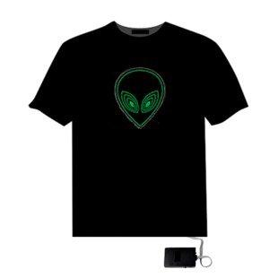 EL LED T-Shirt Light Glowing Figure - ET Face (Size M)